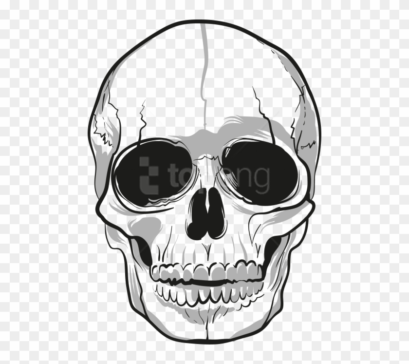 Transparent skull clipart vector black and white download Free Png Download Skulls Clipart Png Photo Png Images - Png ... vector black and white download