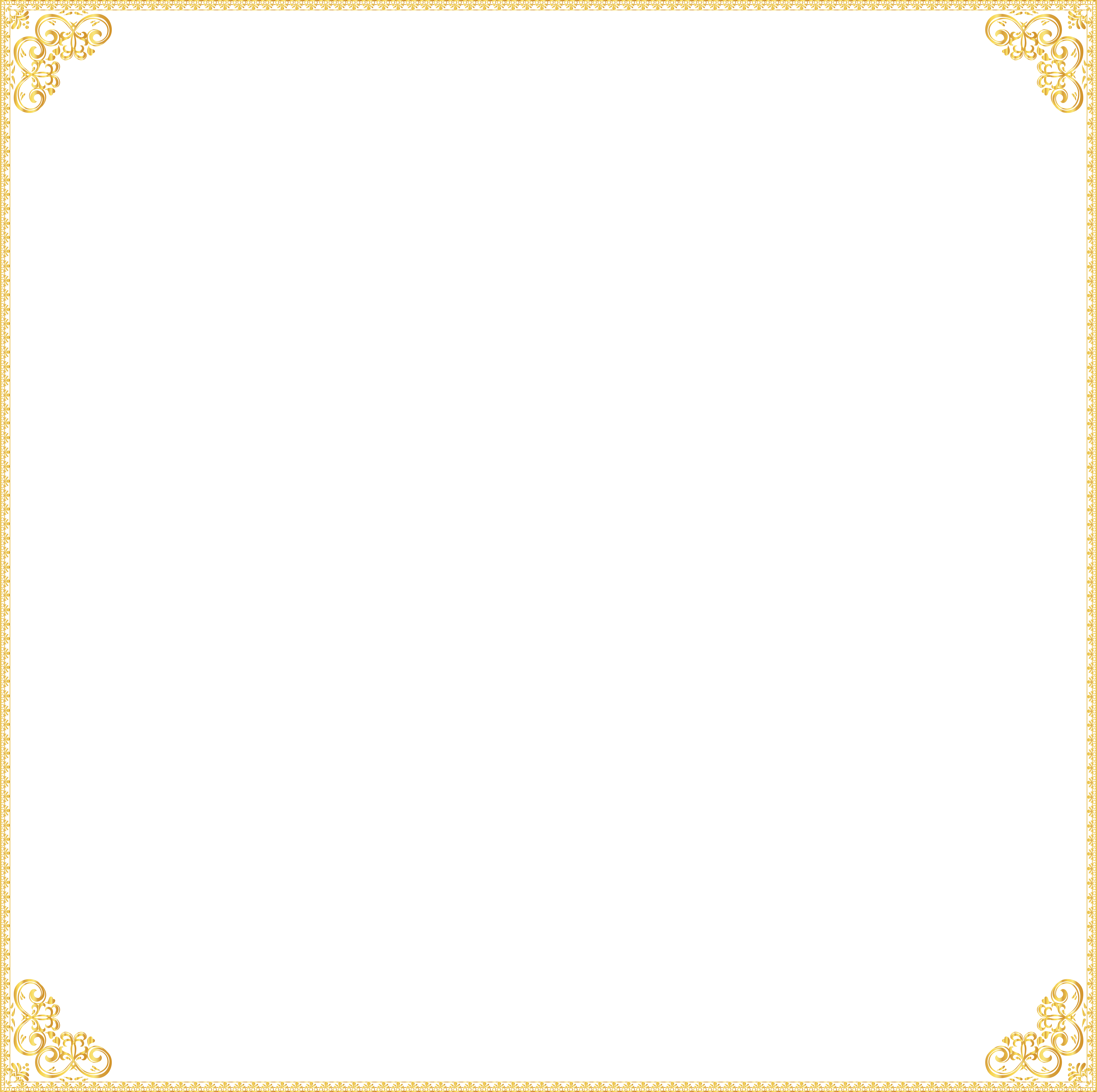 Transparent square clipart picture black and white stock Pattern - Golden Border Frame Transparent Clip Art Image png ... picture black and white stock