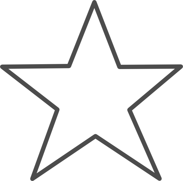 Transparent star clipart jpg black and white library Star-unchecked Clip Art at Clker.com - vector clip art online ... jpg black and white library
