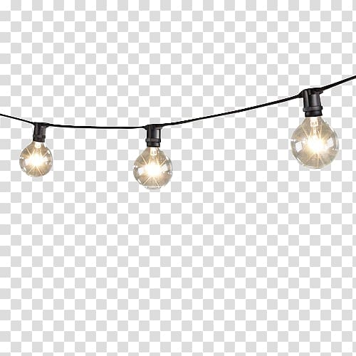 Lighting Incandescent light bulb LED lamp String, Mini ... transparent library