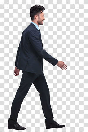 Transparent suit person sitting clipart vector freeuse Man wearing black suit walking, Walking Rendering Drawing ... vector freeuse