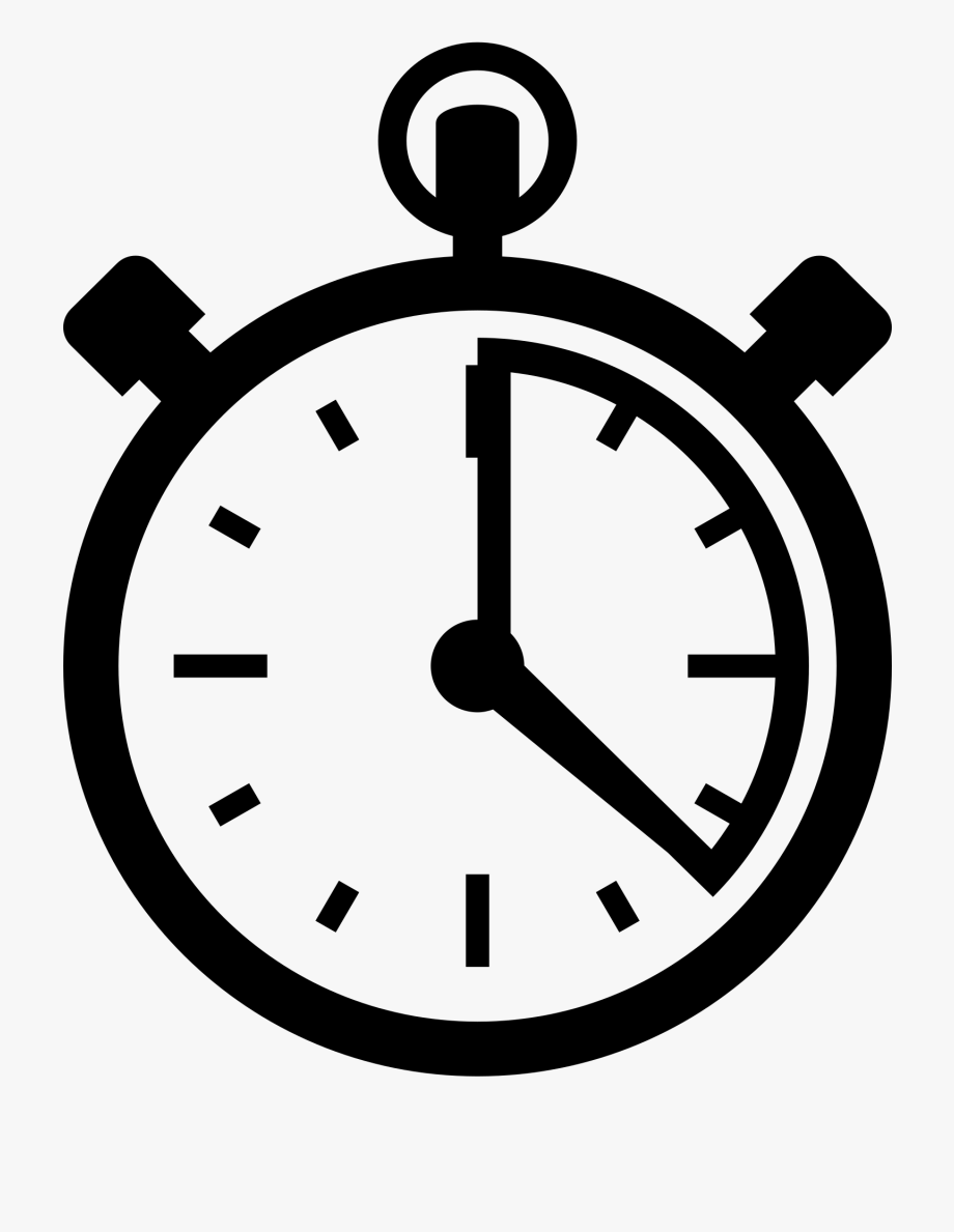 Transparent ten minute clock clipart banner black and white library Cartoon Timer Clock - Stopwatch Png #256880 - Free Cliparts ... banner black and white library