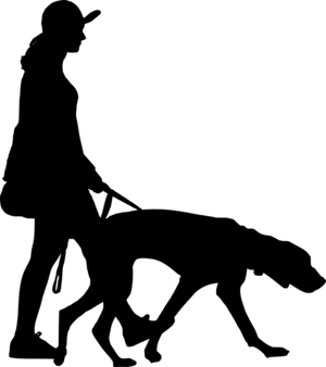 Transparent walker clipart picture black and white library Dog Walking Man Free People Transparent Background Clipart ... picture black and white library