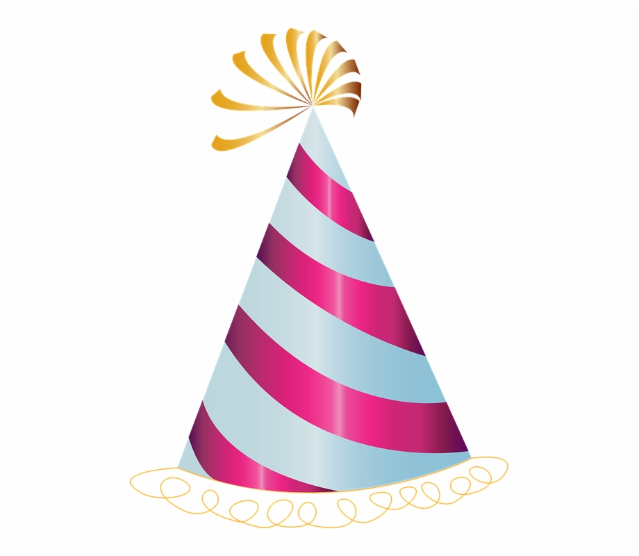 Transparentparty hats clipart picture free Happy Birthday, Hat, Party, Pink - Birthday Hat Clipart ... picture free