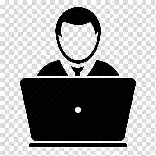 Silhouette illustration of man, Web development PHP Software ... picture freeuse library