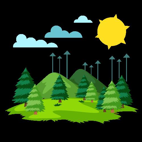 Transpiration trees and hills clipart jpg freeuse download Services – Le Jardin Secrets jpg freeuse download
