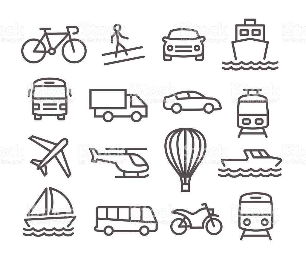 Transport clipart black and white picture black and white stock Transport Black White Clipart Vector Id Icons - Clipart1001 ... picture black and white stock