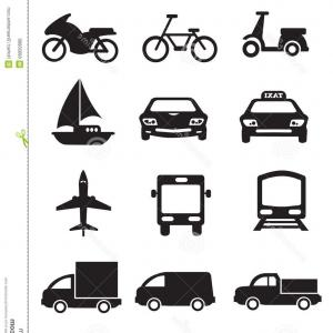 Set Of Transport Icons Black And Blue Vector Clipart | SOIDERGI vector freeuse stock