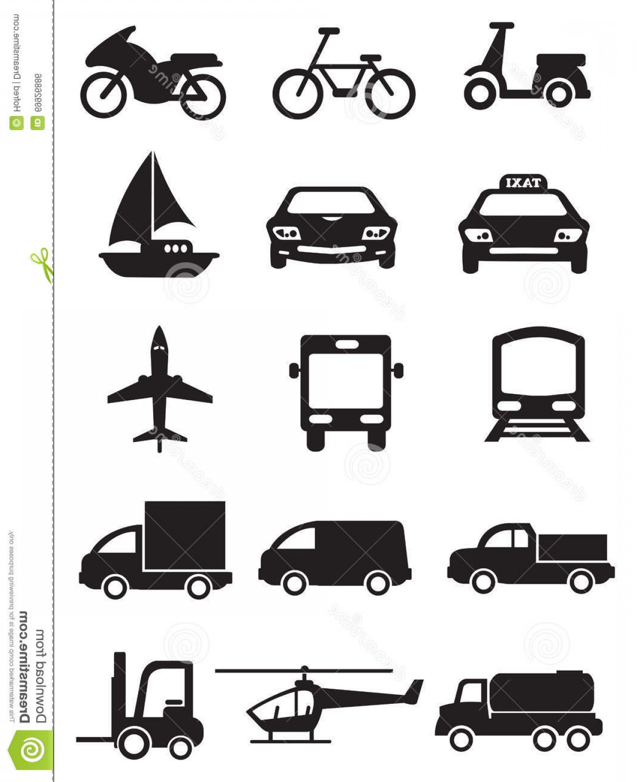 Stock Illustration Mode Transportation Vehicles Vector Icon ... image transparent library