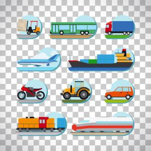 Logistics Options And Transportation Vector Clipart | SOIDERGI black and white library