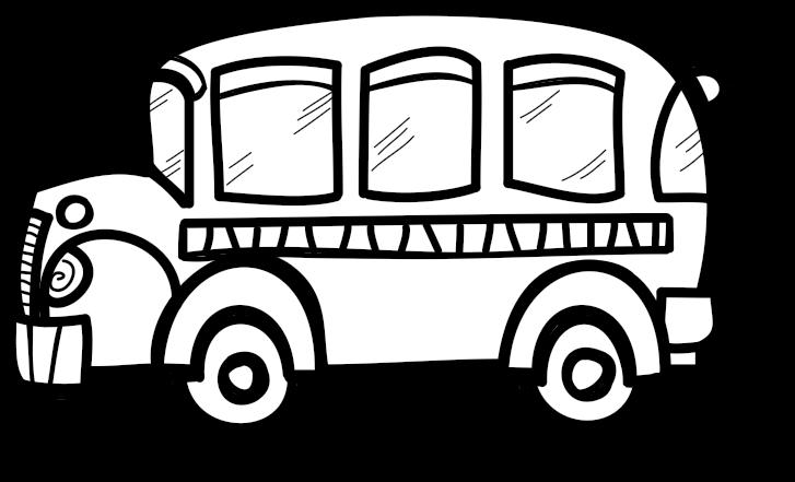 Transportation Free Black White - Transparent Background Bus ... clip royalty free