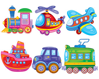 Transportation transport clipart elements set free images ... clip free stock