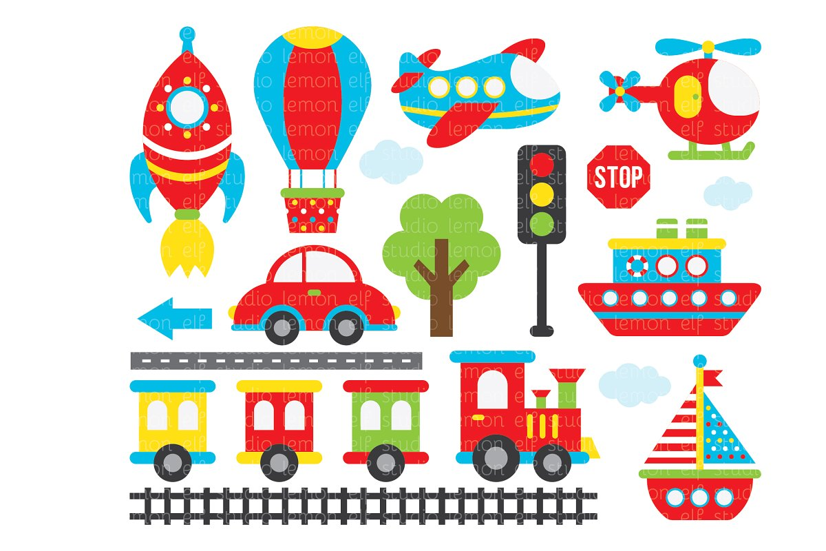 Transportation clipart images image free stock Transportation Clipart (LES.CL01A) image free stock