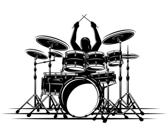 Trap set clipart free clip transparent Drum set, Drummer, Drum, Silhouette,SVG,Graphics ... clip transparent