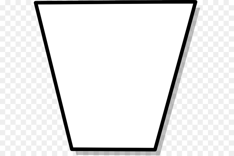 Trapezoid clipart black and white image royalty free Black And White Frame png download - 640*598 - Free ... image royalty free