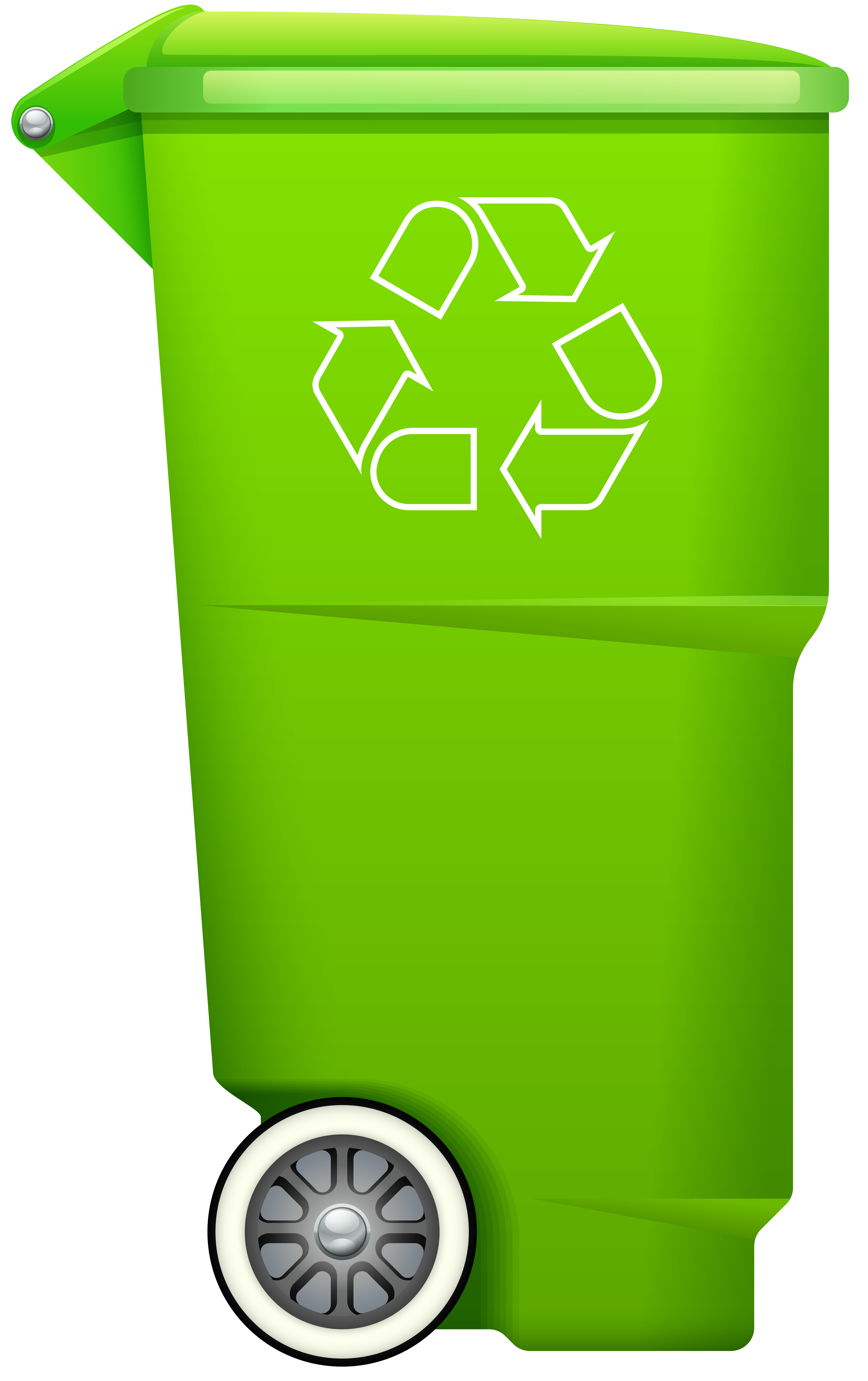 Trashcans clipart free download Garbage Trash Bin with Recycle Symbol PNG Clip Art - Best ... free download
