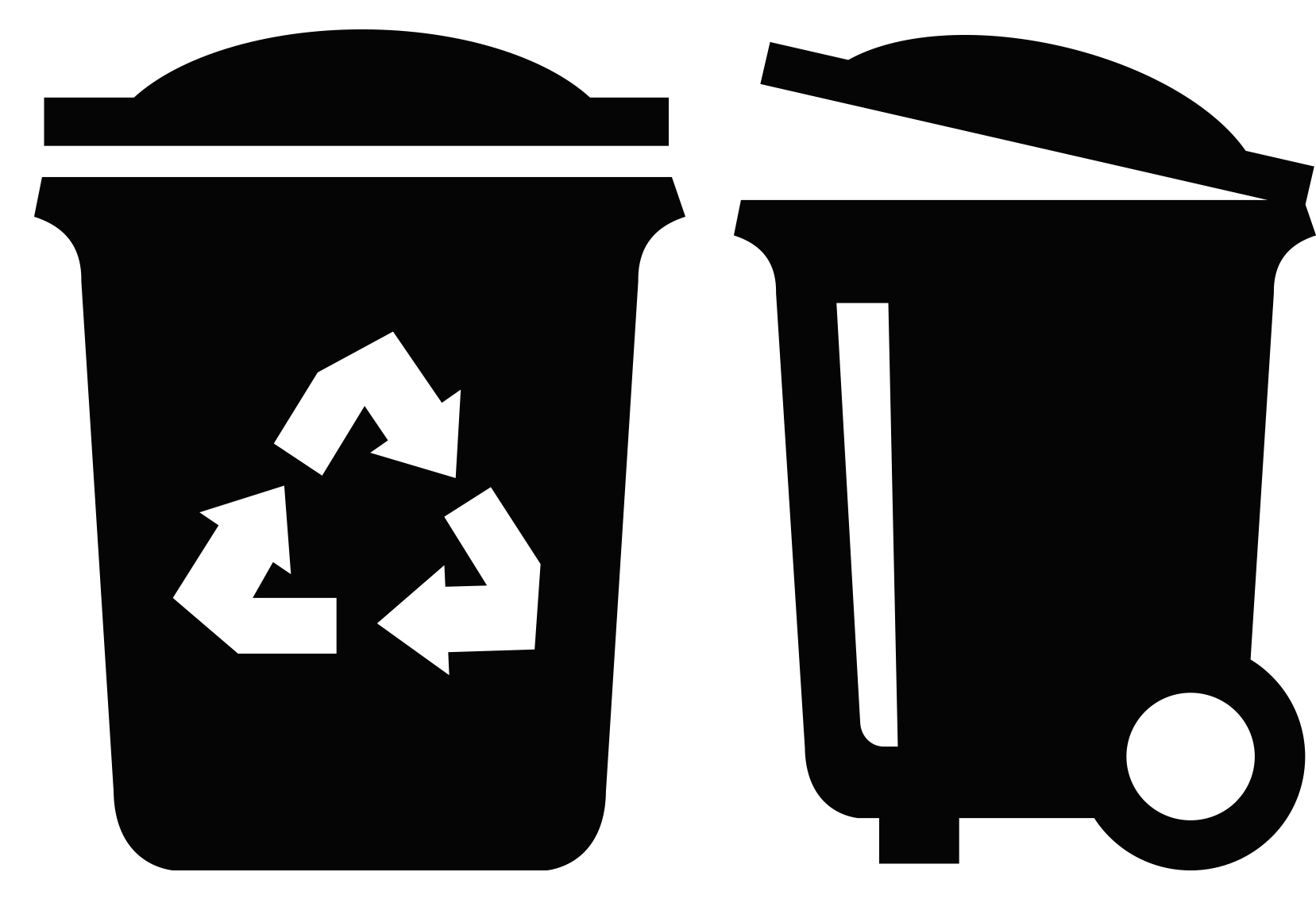 Trash and recyling bin clipart banner free Tabsmore banner free