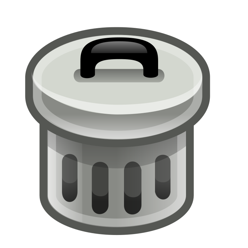 Trashcan basketball clipart svg black and white Free to use and share clipart trash can | ClipartMonk - Free Clip ... svg black and white