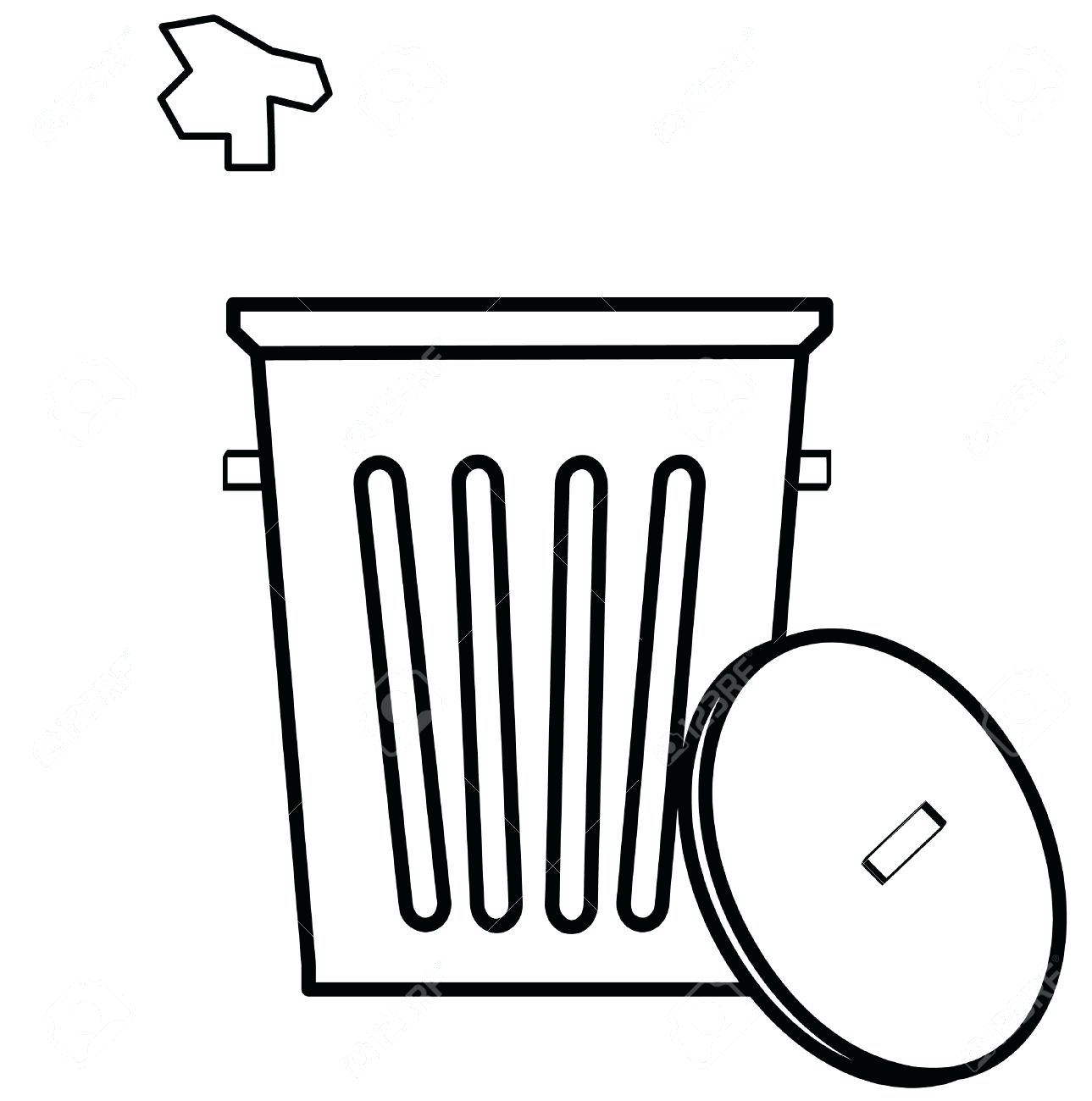 Trash black and white clipart png library Pokemon Clipart Black And White | Free download best Pokemon ... png library