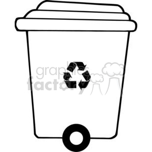 Trash can clipart black and white clip library stock Recycle trash can clipart. Royalty-free clipart # 379660 clip library stock