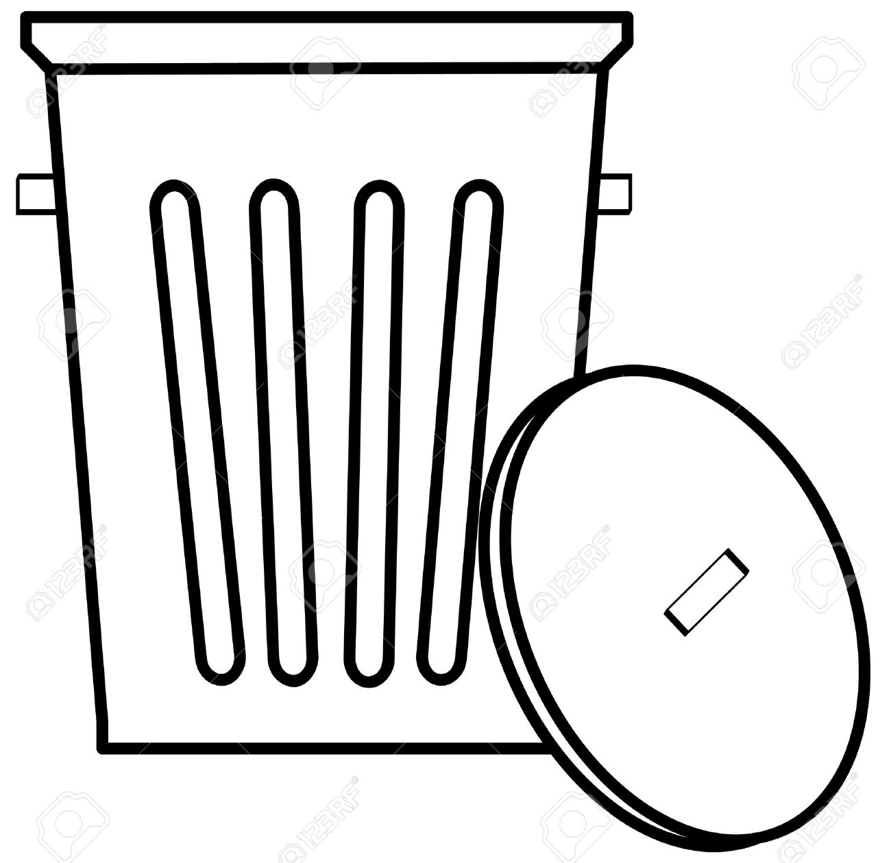 Trash can clipart black and white png freeuse stock Trash can clipart black and white » Clipart Station png freeuse stock
