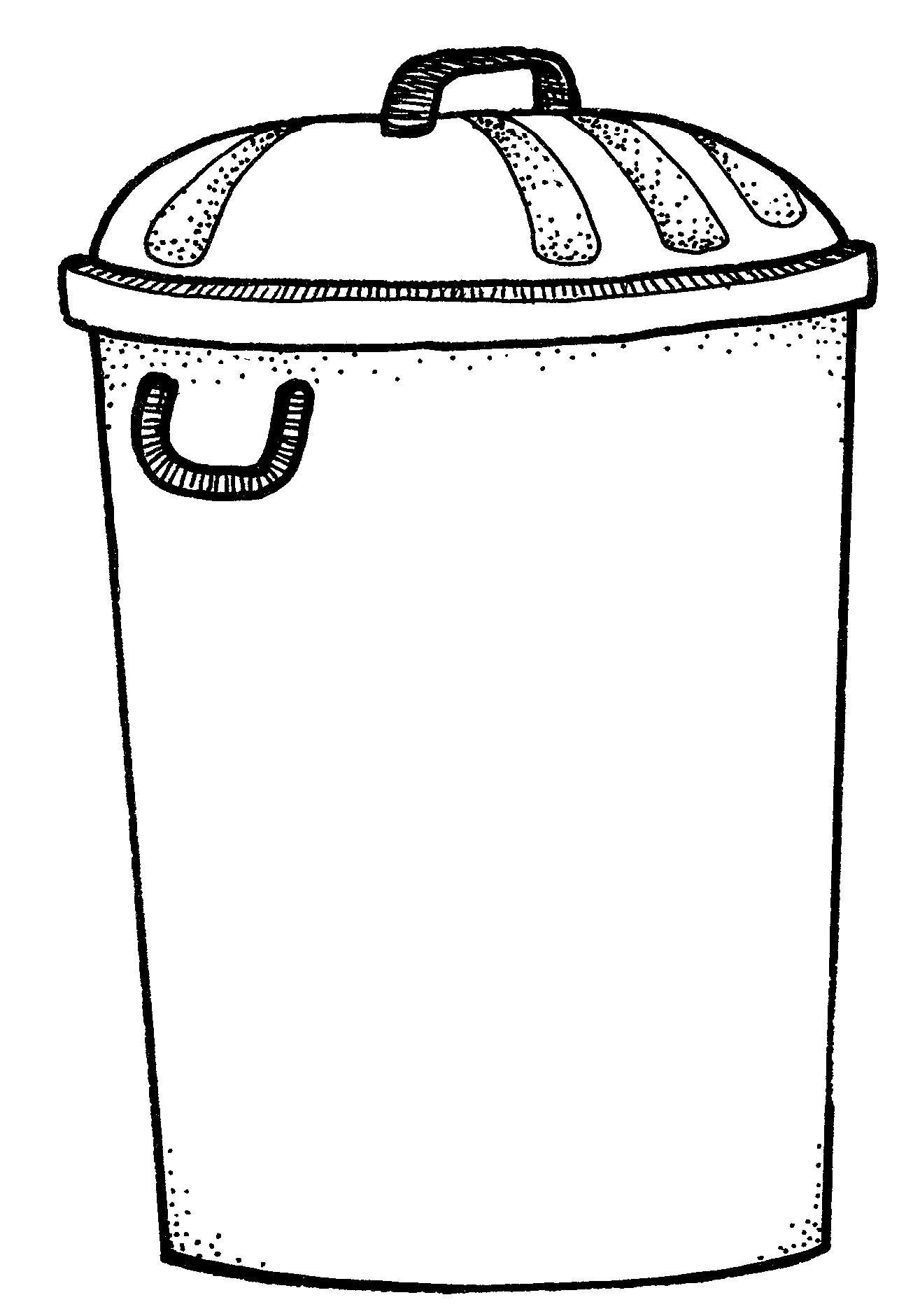Trash can clipart black and white clip royalty free Trash can clipart black and white 2 » Clipart Portal clip royalty free