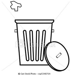 Trash can fell down clipart image free library 11 Best Trash Cans & Garbage Trucks images in 2012 | Clip ... image free library