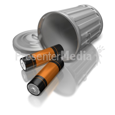 Trash can fell down clipart clipart free library Batteries In Garbage Can - Science and Technology - Great ... clipart free library