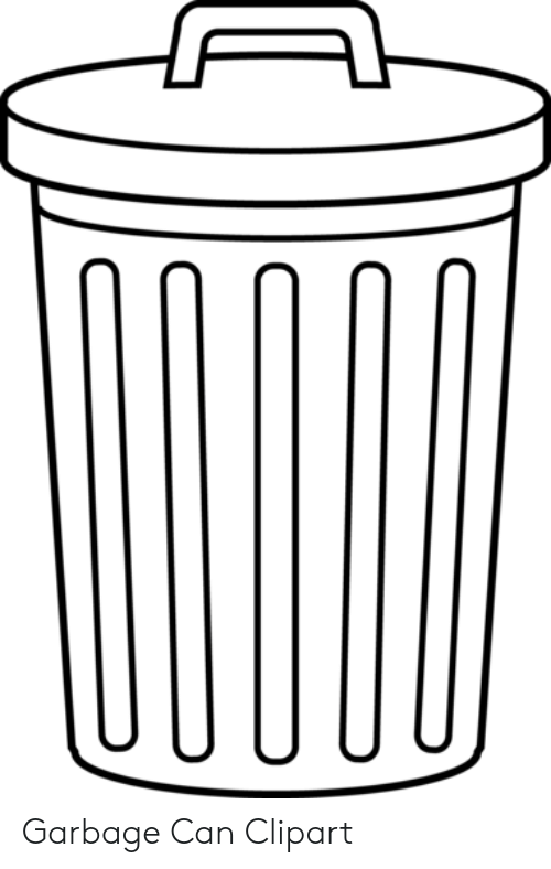 Garbage Can Clipart | Garbage Meme on ME.ME graphic black and white download