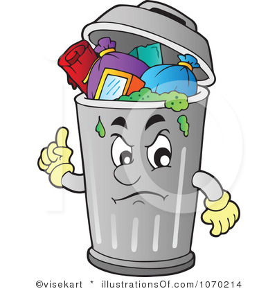 Trash can filled clipart clip royalty free stock Garbage Can Clipart - Clipart Kid clip royalty free stock