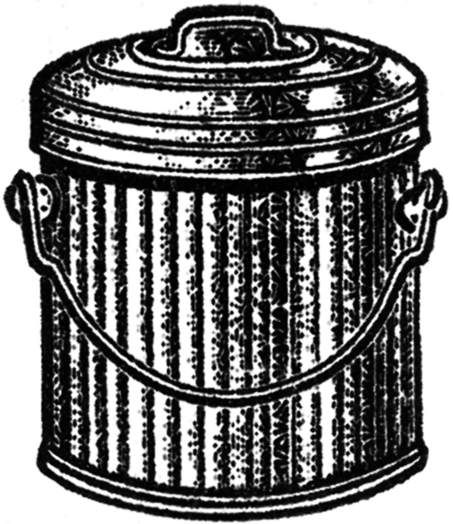 Trash can filled clipart vector black and white Trash can filled clipart - ClipartFest vector black and white