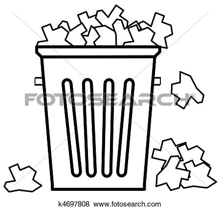Trash can filled clipart png free download Stock Illustration of garbage with filled to the top with garbage ... png free download