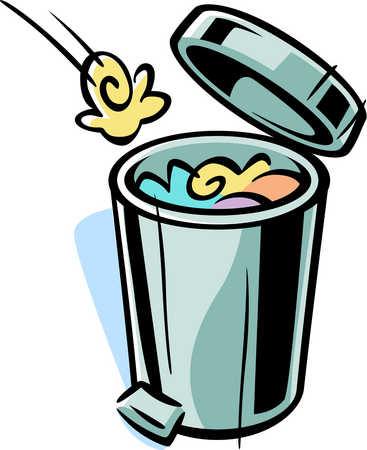 Trash can filled clipart vector transparent download Trash Can Clipart & Trash Can Clip Art Images - ClipartALL.com vector transparent download