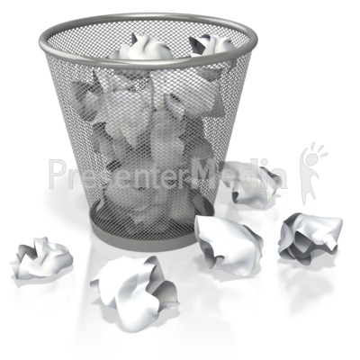 Trash can filled clipart clip black and white stock Garbage Can Filled with Paper - Presentation Clipart - Great ... clip black and white stock