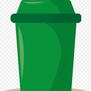 Trash can on wheels clipart clip art Green Plastic Trash Can With Wheels Vector Clipart | SOIDERGI clip art