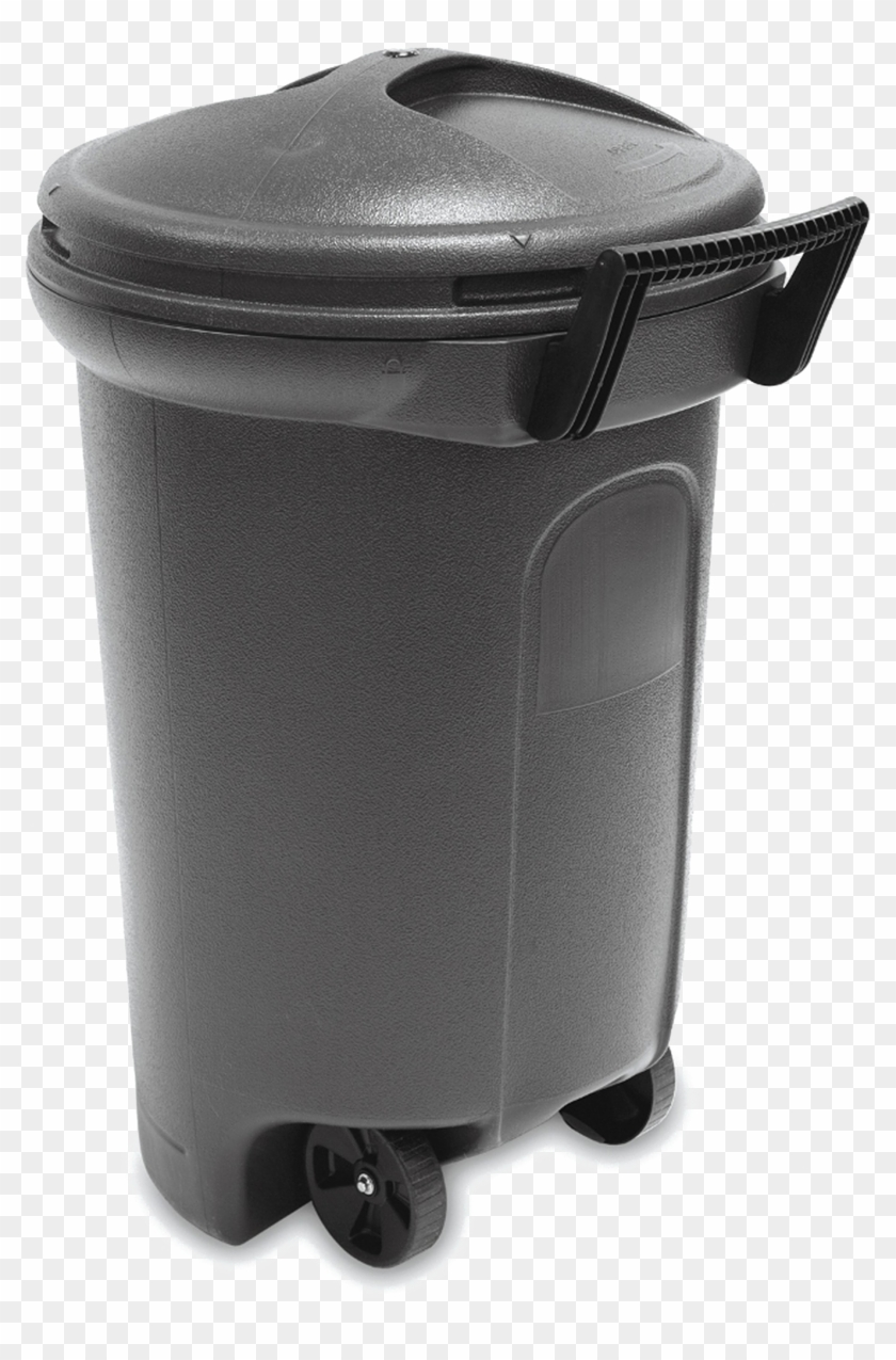 Trash can on wheels clipart picture black and white download Trash Can Png Download Image - Rubbermaid Trash Can With ... picture black and white download