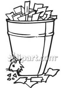 Black and White Rat In A Trash Can - Royalty Free Clipart ... picture free download