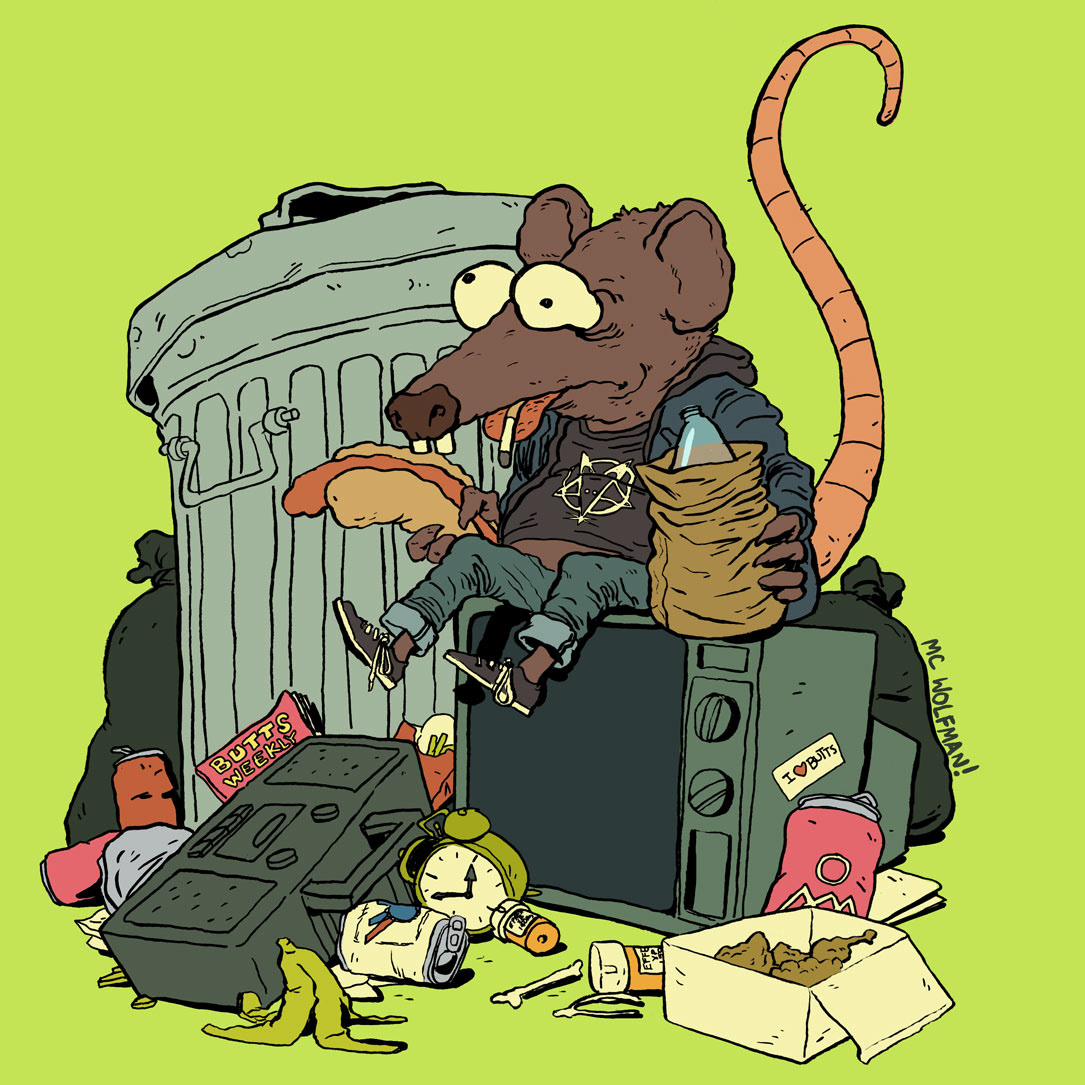 Trash Rat on Behance picture free
