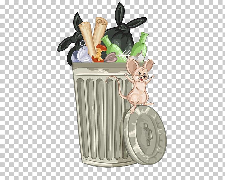 Stock photography Waste container , Garbage rat in the ... picture black and white download