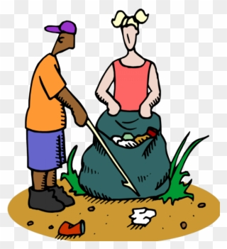 Trash clean up clipart png black and white Community Service Project-trash Pick Up - Keep Your School ... png black and white