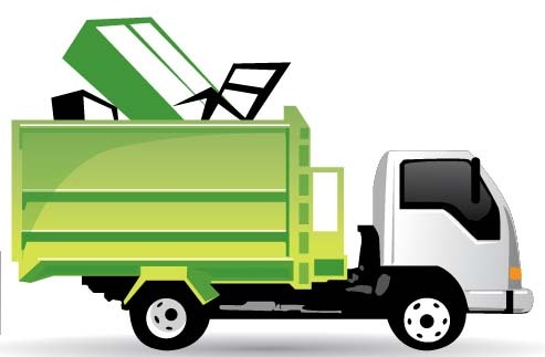 Trash removal clipart banner black and white stock Trash Truck Cliparts | Free download best Trash Truck ... banner black and white stock