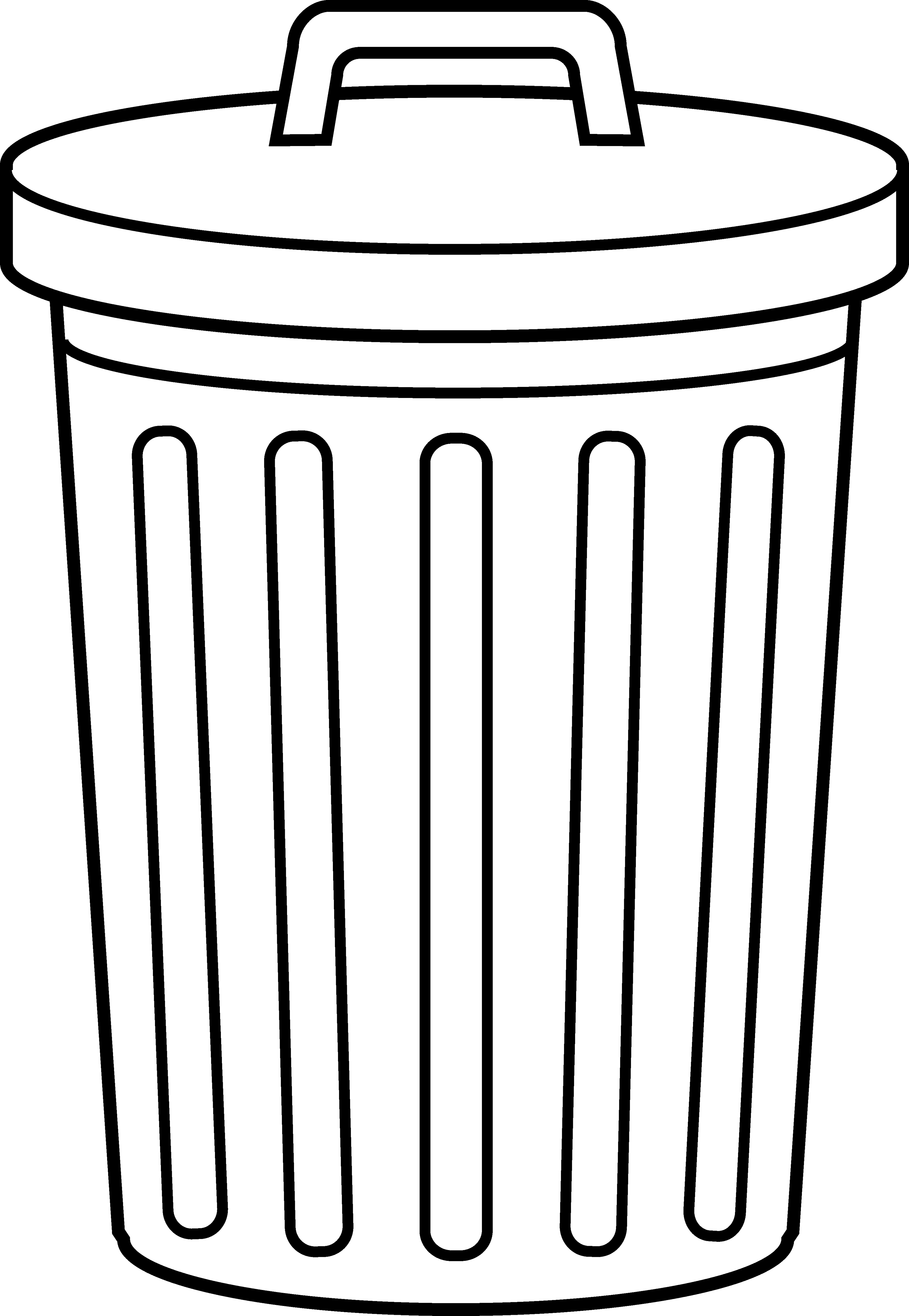 Trashcan basketball clipart clipart library stock 28+ Collection of Garbage Can Clipart | High quality, free cliparts ... clipart library stock