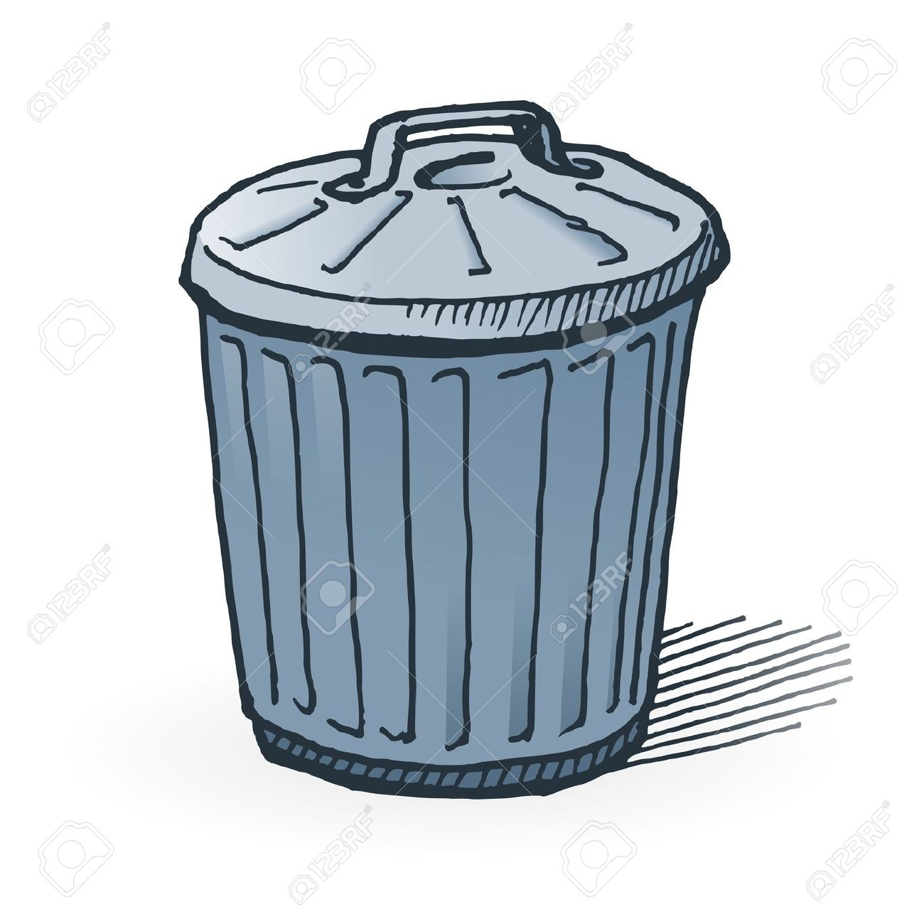 Trashcans clipart image freeuse library Trash Bin Drawing | Free download best Trash Bin Drawing on ... image freeuse library
