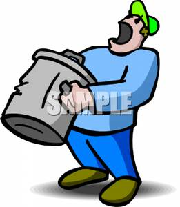 Trashman clipart clipart library Cartoon of a Garbage Man Yelling - Royalty Free Clipart Picture clipart library