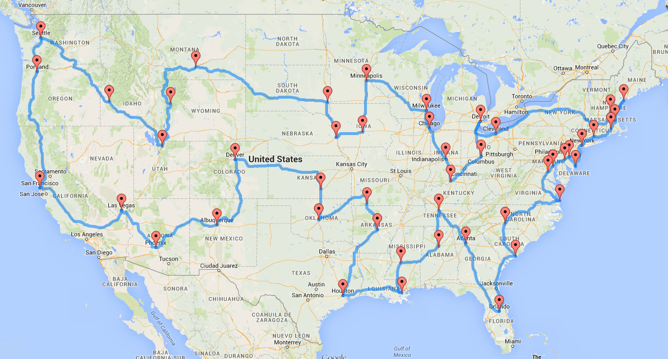 Computing the optimal road trip across the U.S. | Dr. Randal ... image free library