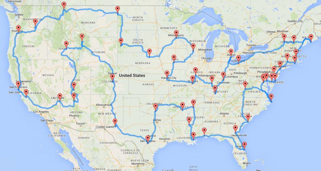 Computing the optimal road trip across the U.S. | Dr. Randal ... image free stock