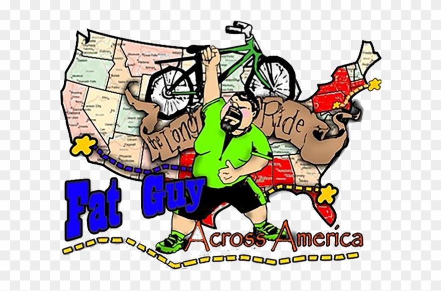 Fat Guy Across America Travel Picks - Cartoon Clipart ... clip library library