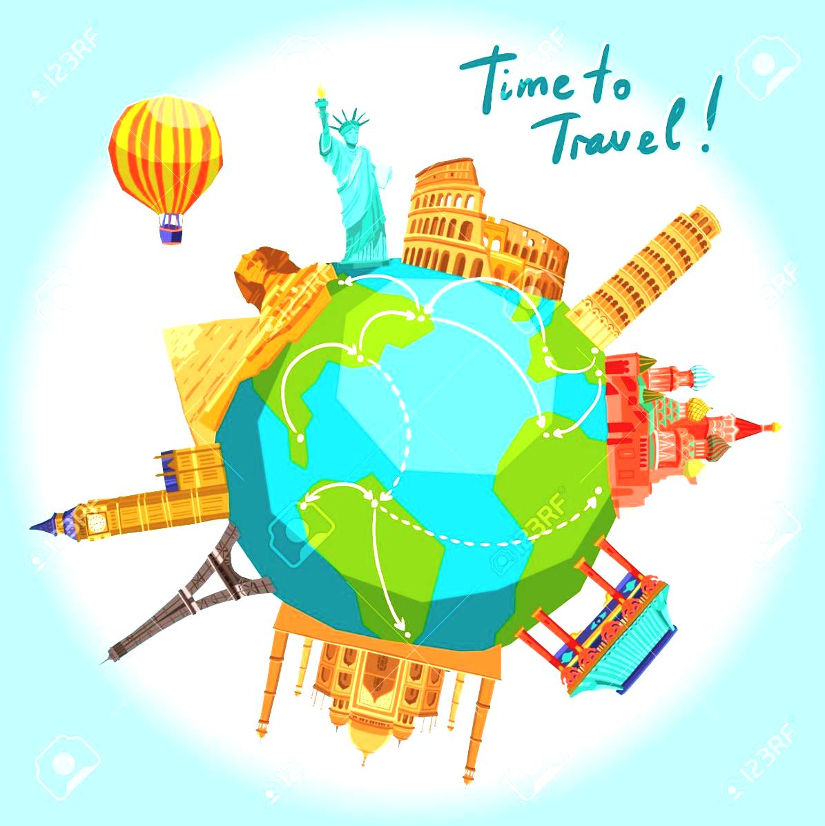 Travel The World Clipart | Free download best Travel The ... vector black and white download