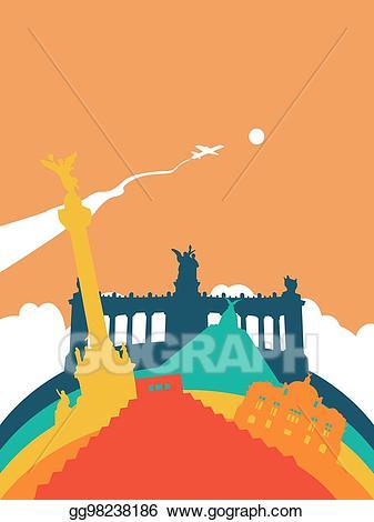 Vector Stock - Travel mexico world landmark landscape ... banner royalty free library