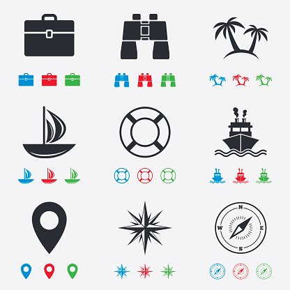 Travel signs clipart